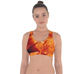 Spectacular Solar Prominence Cross String Back Sports Bra by Sapixe