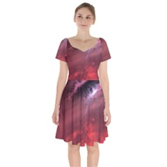 Storm Clouds And Rain Molten Iron May Be Common Occurrences Of Failed Stars Known As Brown Dwarfs Short Sleeve Bardot Dress by Sapixe
