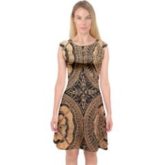 The Art Of Batik Printing Capsleeve Midi Dress