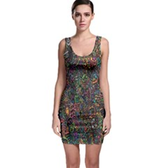 Trees Internet Multicolor Psychedelic Reddit Detailed Colors Bodycon Dress