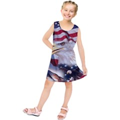 United States Of America Images Independence Day Kids  Tunic Dress