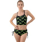 Dinosaur Skeleton Mini Tank Bikini Set (Green)