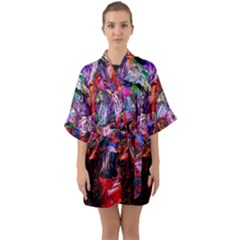 Gift From Africa And Rhino Quarter Sleeve Kimono Robe by bestdesignintheworld