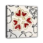 Love Love Hearts Mini Canvas 6  x 6