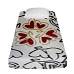Love Love Hearts Fitted Sheet (Single Size)