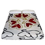 Love Love Hearts Fitted Sheet (Queen Size)