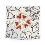 Love Love Hearts Square Tapestry (Small)