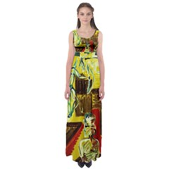 Dscf1482   Ancient Geomenty Empire Waist Maxi Dress by bestdesignintheworld