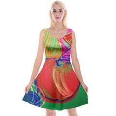Dscf1425 (1)   Fruits And Geometry 2 Reversible Velvet Sleeveless Dress by bestdesignintheworld