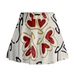 Love Love Hearts Mini Flare Skirt