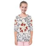 Love Love Hearts Kids  Quarter Sleeve Raglan Tee