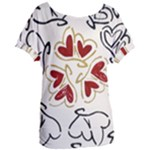 Love Love Hearts Women s Oversized Tee