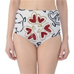 Love Love Hearts High-Waist Bikini Bottoms