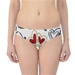 Love Love Hearts Hipster Bikini Bottoms