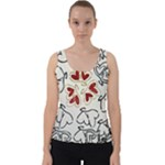 Love Love Hearts Velvet Tank Top