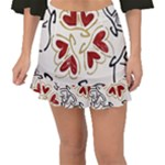 Love Love Hearts Fishtail Mini Chiffon Skirt