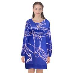 Dscf2003   Amasonka Long Sleeve Chiffon Shift Dress  by bestdesignintheworld