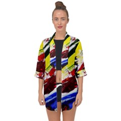 Lets Forget The Black Squere 2 Open Front Chiffon Kimono by bestdesignintheworld
