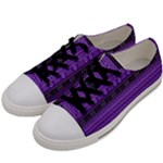 Purple Modern Mudcloth Women s Low Top Canvas Sneakers