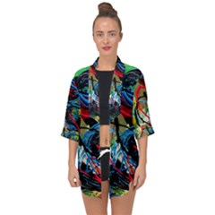 Rumba On A Chad Lake 4 Open Front Chiffon Kimono