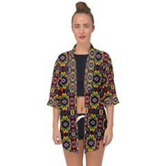 Artwork By Patrick-squares-5 Open Front Chiffon Kimono by ArtworkByPatrick