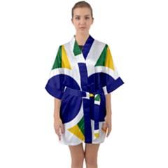 Roundel Of Brazilian Air Force Quarter Sleeve Kimono Robe by abbeyz71