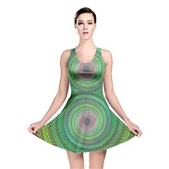 Wire Woven Vector Graphic Reversible Skater Dress