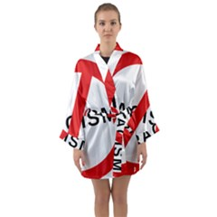 2000px No Racism Svg Long Sleeve Kimono Robe by demongstore