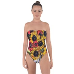 Sunflowers In A Scott House Tie Back One Piece Swimsuit by bestdesignintheworld
