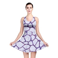 Skin1 White Marble & Purple Marble Reversible Skater Dress by trendistuff