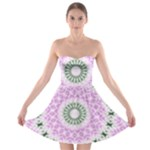 Shades Of Pink And Green 3 Strapless Bra Top Dress
