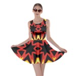 Flaming Hot Orange Yellow Black 1 Skater Dress