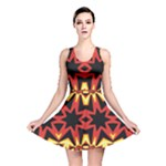 Flaming Hot Orange Yellow Black 1 Reversible Skater Dress