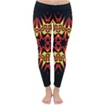 Flaming Hot Orange Yellow Black 1 Classic Winter Leggings