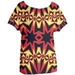 Flaming Hot Orange Yellow Black 1 Women s Oversized Tee