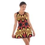Flaming Hot Orange Yellow Black 1 Cotton Racerback Dress
