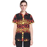 Flaming Hot Orange Yellow Black 1 Women s Short Sleeve Shirt
