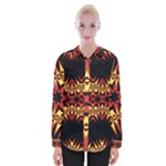 Flaming Hot Orange Yellow Black 1 Womens Long Sleeve Shirt