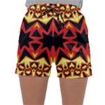 Flaming Hot Orange Yellow Black 1 Sleepwear Shorts