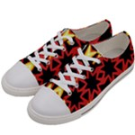 Flaming Hot Orange Yellow Black 1 Women s Low Top Canvas Sneakers
