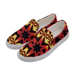 Flaming Hot Orange Yellow Black 1 Women s Canvas Slip Ons