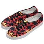 Flaming Hot Orange Yellow Black 1 Women s Classic Low Top Sneakers