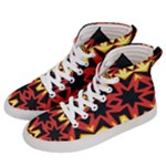 Flaming Hot Orange Yellow Black 1 Women s Hi-Top Skate Sneakers