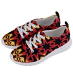 Flaming Hot Orange Yellow Black 1 Women s Lightweight Sports Shoes