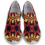 Flaming Hot Orange Yellow Black 1 Women s Lightweight Slip Ons