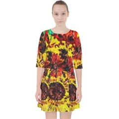 Sunflowers In Elizabeth House Pocket Dress by bestdesignintheworld