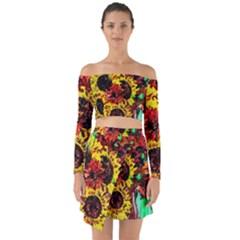 Sunflowers In Elizabeth House Off Shoulder Top With Skirt Set by bestdesignintheworld
