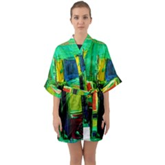 Marakesh 5 Quarter Sleeve Kimono Robe by bestdesignintheworld