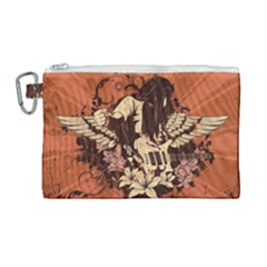 Rock Music Moves Me Canvas Cosmetic Bag (large) by Sapixe