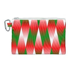 Christmas Geometric Background Canvas Cosmetic Bag (large) by Sapixe